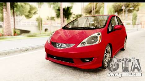 Honda Fit Sport 2009 for GTA San Andreas right view