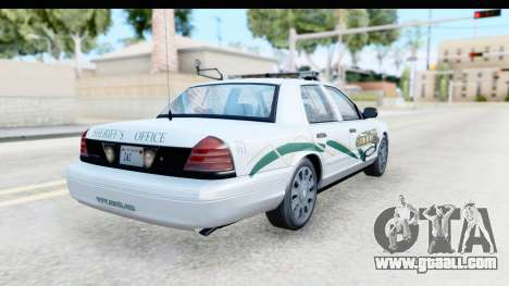 Ford Crown Victoria 2009 Southern Justice for GTA San Andreas back left view