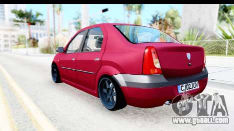 Dacia Logan Editie for GTA San Andreas left view