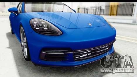Porsche Panamera 4S 2017 v1 for GTA San Andreas back view