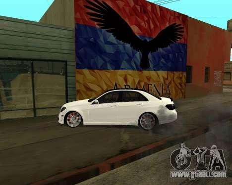 Mercedes-Benz E250 Armenian for GTA San Andreas engine