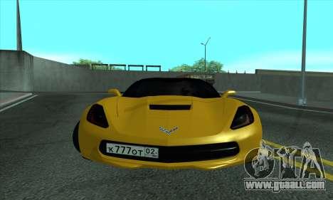 Chevrolet Corvette for GTA San Andreas left view