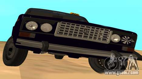 VAZ-2106 to GVR early version for GTA San Andreas back view