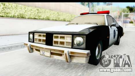Pontiac Ventura LSPD from Silent Hill 2 for GTA San Andreas right view