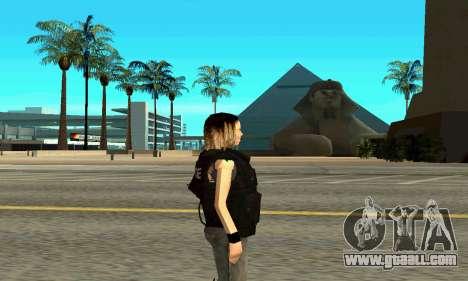 Female trainer SWAT for GTA San Andreas second screenshot