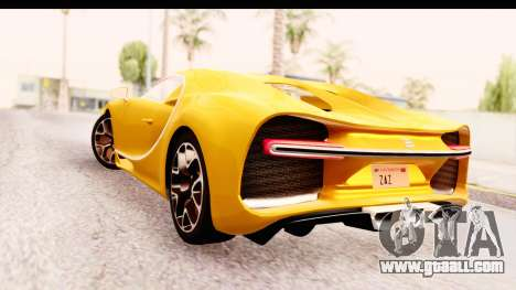 Bugatti Chiron 2017 v2.0 Updated for GTA San Andreas left view
