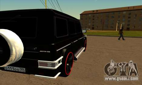 1999 Mercedes-Benz G55 AMG Brabus for GTA San Andreas back view