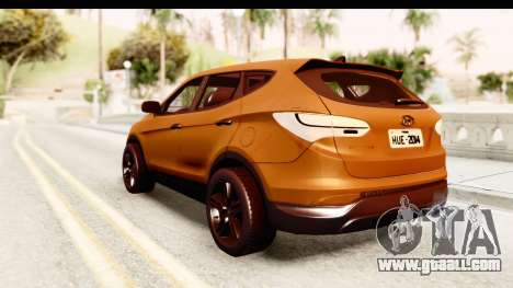 Hyundai Santa Fe 2015 for GTA San Andreas left view