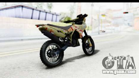GTA 5 Nagasaki BF400 Custom v1 IVF for GTA San Andreas back left view