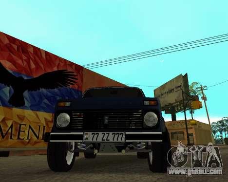 Niva 2121 Armenian for GTA San Andreas interior