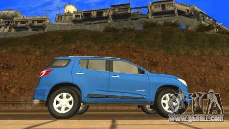 Chevrolet TrailBlazer 2015 LTZ for GTA San Andreas back left view