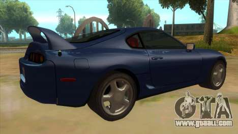 Toyota Supra Tunable for GTA San Andreas right view