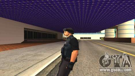 Original SWAT skin without a mask for GTA San Andreas forth screenshot