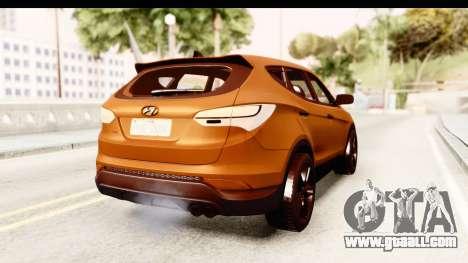 Hyundai Santa Fe 2015 for GTA San Andreas right view