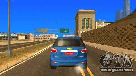 Chevrolet TrailBlazer 2015 LTZ for GTA San Andreas side view