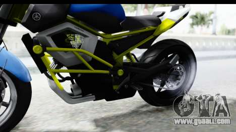 Yamaha Cage Sic for GTA San Andreas back view