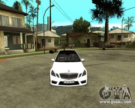 Mercedes-Benz E250 Armenian for GTA San Andreas back left view