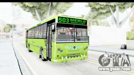 Bus La Favorita Ecotrans for GTA San Andreas back left view