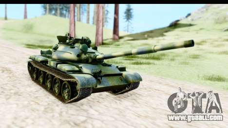 T-62 Wood Camo v3 for GTA San Andreas right view