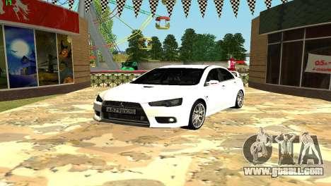 Mitsubishi Lancer X GVR for GTA San Andreas