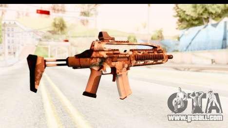 SCAR-LK Hex Camo Tan for GTA San Andreas second screenshot