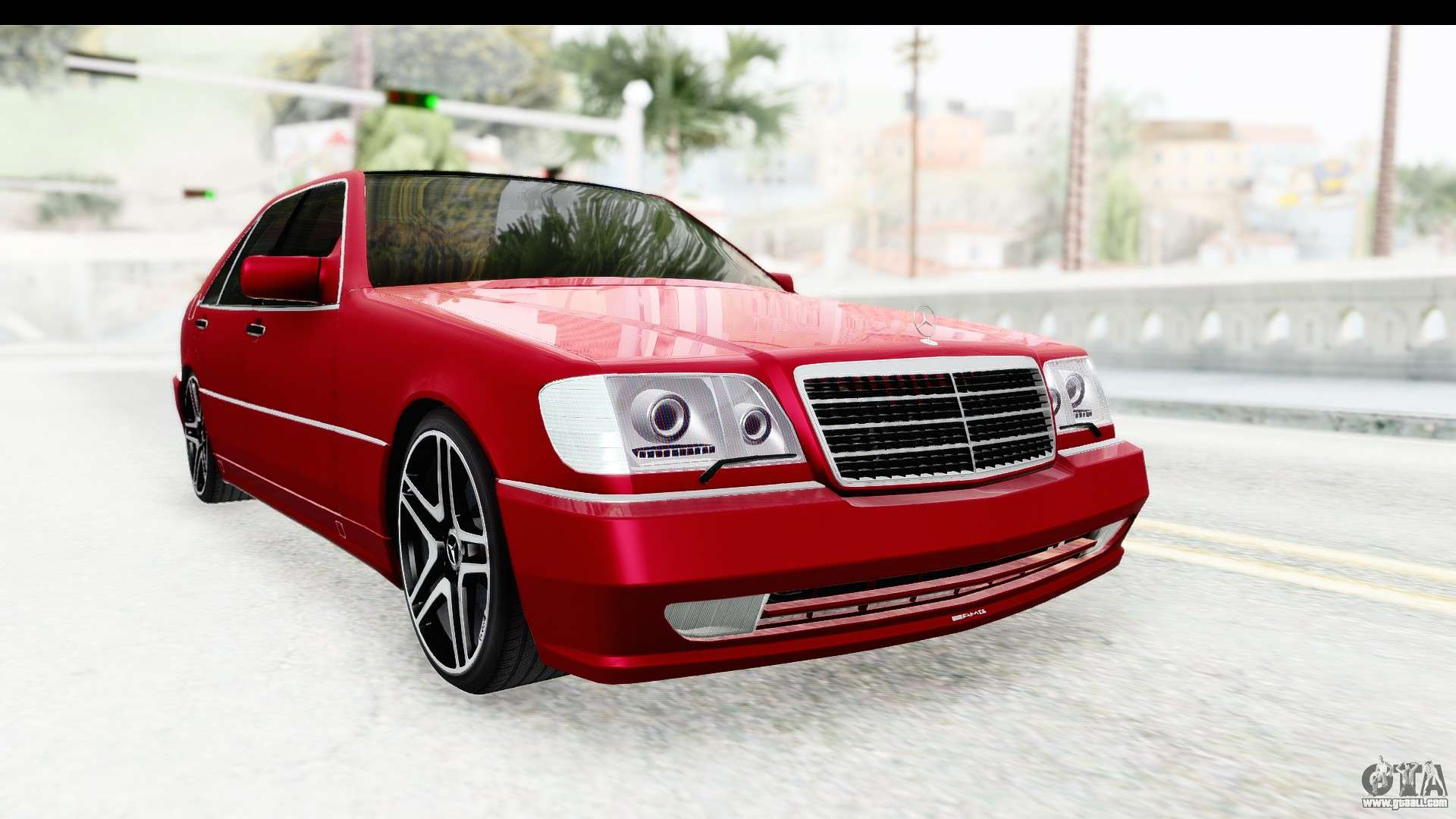 Mercedes benz w140 s600 amg for gta san andreas for S600 mercedes benz
