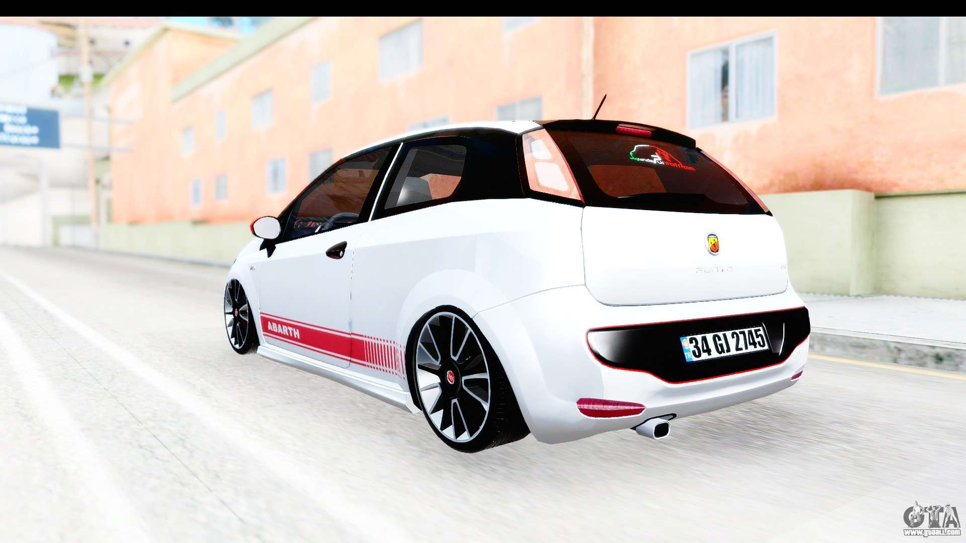 fiat punto abarth for gta san andreas. Black Bedroom Furniture Sets. Home Design Ideas