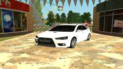 Mitsubishi Lancer X GVR for GTA San Andreas