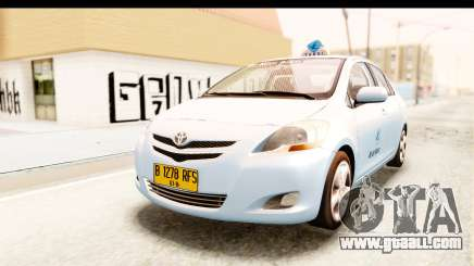 Toyota Vios 2008 Taxi Blue Bird for GTA San Andreas