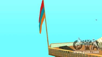 Armenian Flag On Mount Chiliad V-2.0 for GTA San Andreas