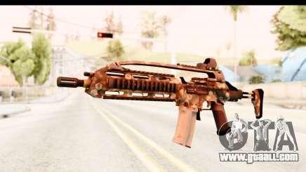 SCAR-LK Hex Camo Tan for GTA San Andreas