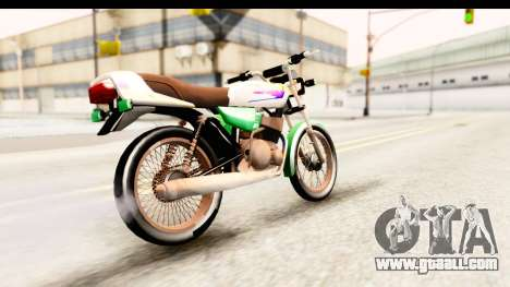 Yamaha RX115 Colombia for GTA San Andreas back left view