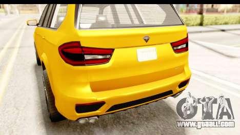 GTA 5 Benefactor XLS IVF for GTA San Andreas upper view