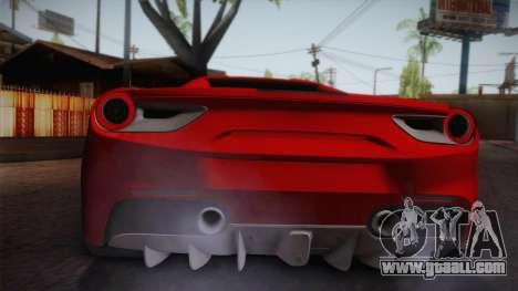 Ferrari 488 Spider for GTA San Andreas right view