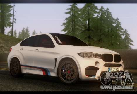 BMW X6M PML ED for GTA San Andreas back left view