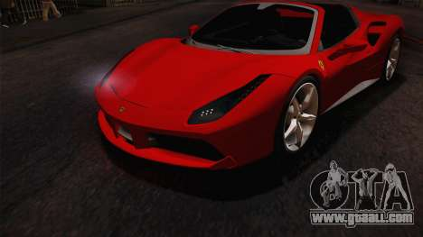 Ferrari 488 Spider for GTA San Andreas side view