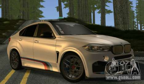 BMW X6M PML ED for GTA San Andreas back view
