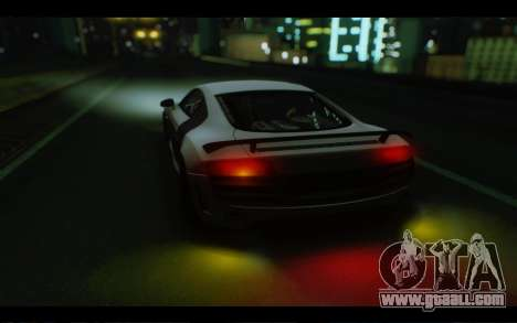 Audi R8 GT Sport 2012 for GTA San Andreas inner view