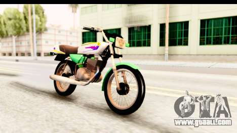Yamaha RX115 Colombia for GTA San Andreas right view