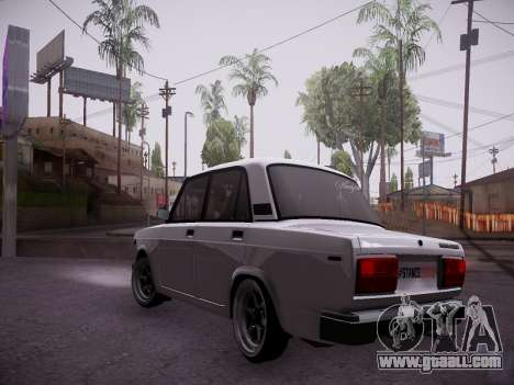 VAZ 2107 Tipo-stance for GTA San Andreas back left view