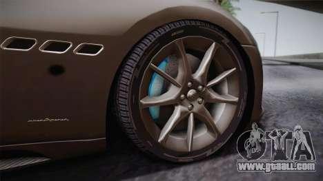 Maserati Gran Turismo Sport for GTA San Andreas back view