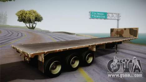 GTA 5 Army Flat Trailer IVF for GTA San Andreas left view