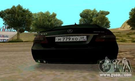 Mercedes-Benz E63 for GTA San Andreas inner view