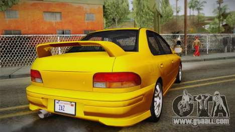 Subaru Impreza WRX STI GC8 1999 v1.0 for GTA San Andreas side view
