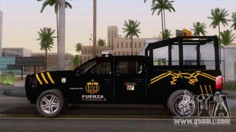 Chevrolet Silverado de la Fuerza Coahuila for GTA San Andreas back view