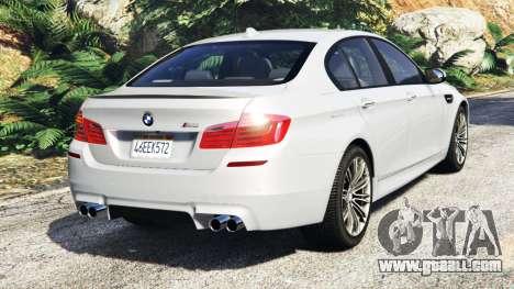 GTA 5 BMW M5 (F10) 2012 [add-on] rear left side view