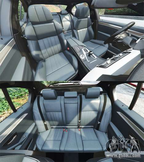 GTA 5 BMW M5 (F10) 2012 [add-on] steering wheel