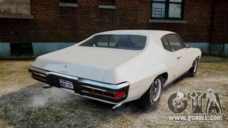 Pontiac LeMans Coupe 1971 for GTA 4 back left view