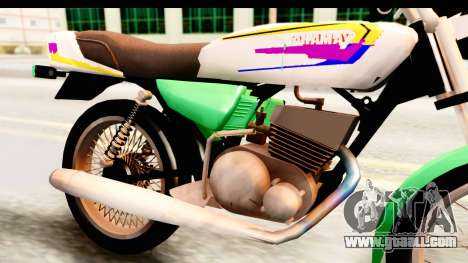 Yamaha RX115 Colombia for GTA San Andreas back view