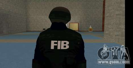 GTA 5 FIB SWAT Blue for GTA San Andreas second screenshot